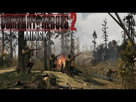 Company of Heroes 2 - Minsk AI Battle on General - Theater of War Gameplay 1/3