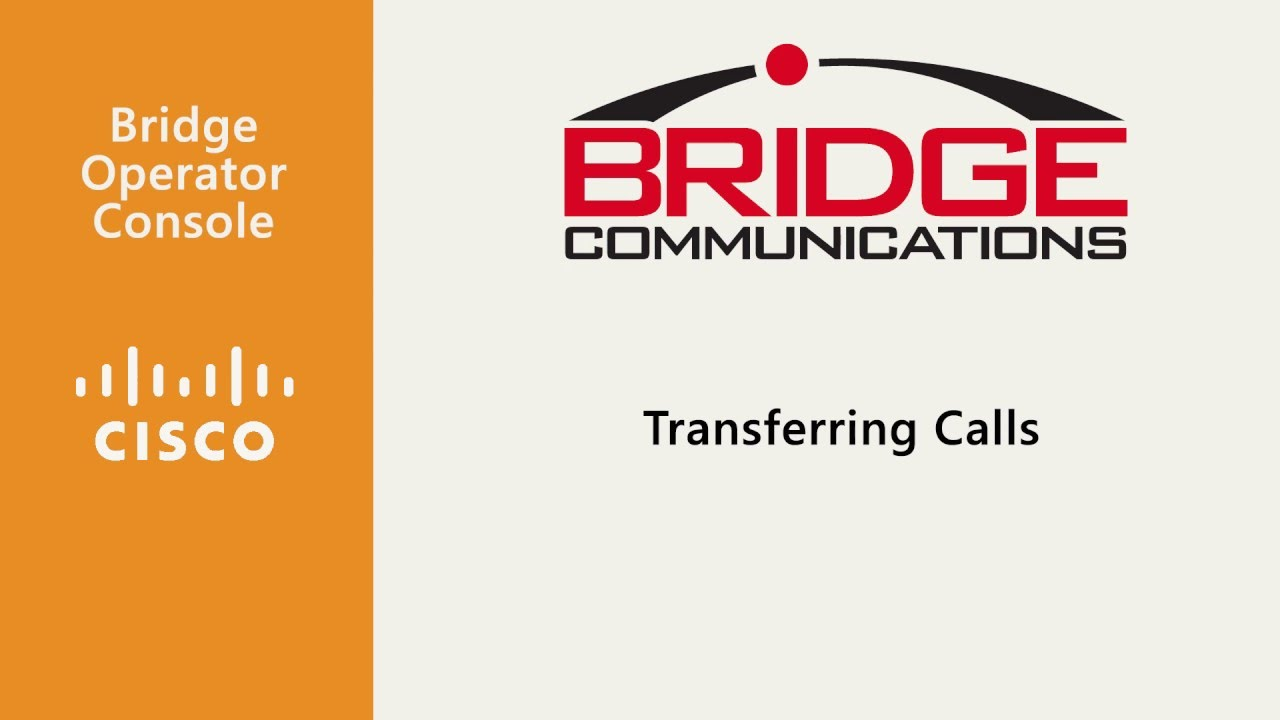 Bridge Operator Console - Attendant Console for Cisco CUCM