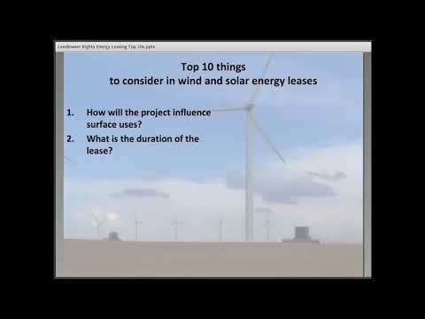 Landowner Rights: Wind and Solar Leasing