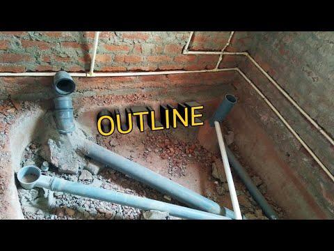 Toilet Outline System Details Wc Drain