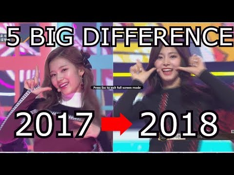 5 Best Part Switch In New Year 2018 TWICE Likey 😍😍 #SatzuIsReal