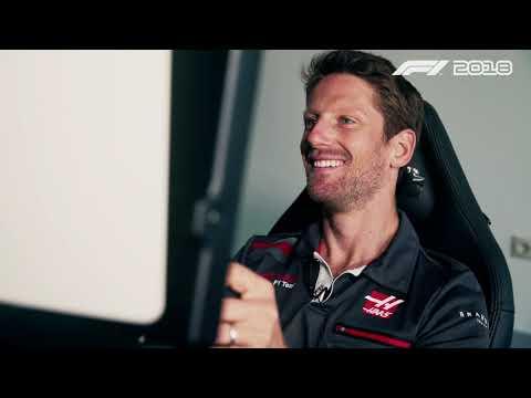 Grosjean drives at Paul Ricard on F1 2018 from Codemasters