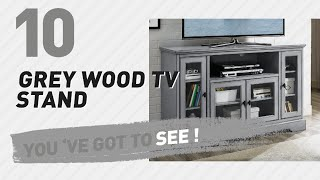 Grey Wood TV Stand // New & Popular 2017