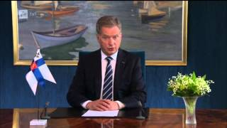 Tasavallan Presidentin uudenvuoden puhe 1.1.2015