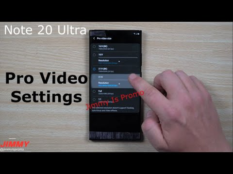 Galaxy Note 20 Ultra HANDS ON - Camera, Pro Video Settings & More