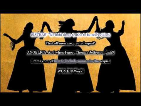 The Schuyler Sisters (Karaoke from Hamilton the Musical) with Lyrics