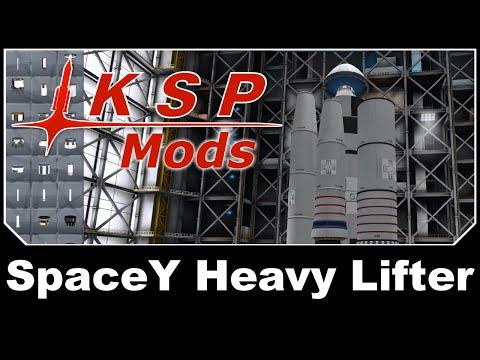 KSP Mods - SpaceY Heavy Lifter