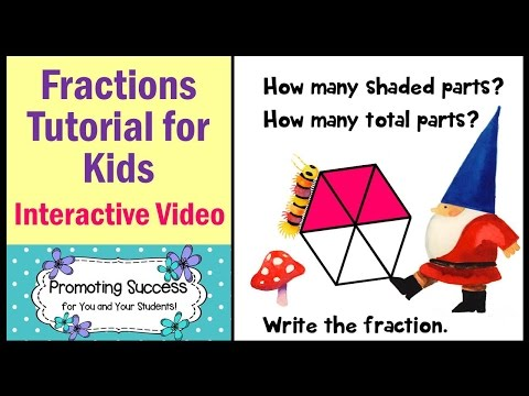 Fractions Tutorial for Kids Common Core Math Special Education Lesson