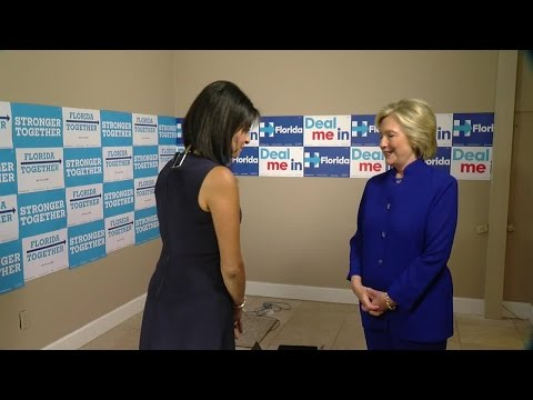 EXCLUSIVE: Presidential nominee Hillary Clinton grants one-on-one interview to ABC Action News