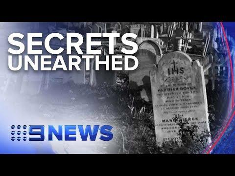 Old Sydney graveyard below Central Station | Nine News Australia