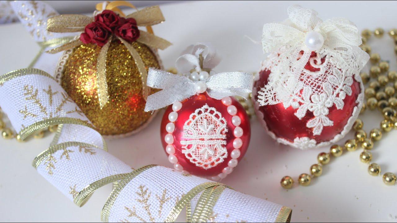 3 Esferas Navideñas Decoradas Manualidades Navideñas Fáciles Diy