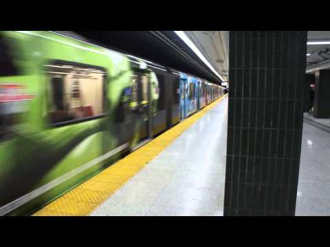 "TTC Line 1 TR 5751-5756 ""Ontario wrap car"" Departs ST. Andrew"