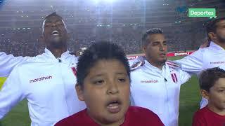 Perú vs. Costa Rica: así se entonó el himno nacional en el estadio Monumental