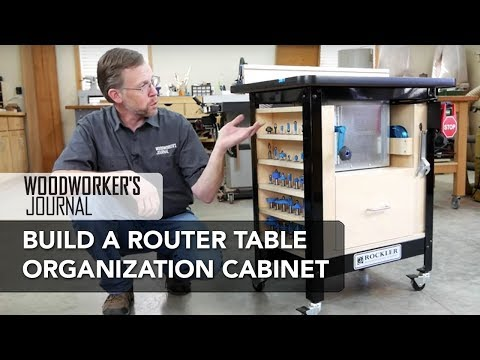 Router Table Organizer Cabinet | Woodworking Project