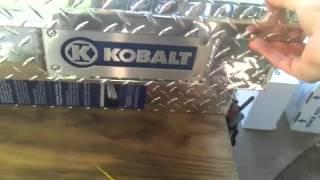 Kobalt Side Mount Truck Tool Box Unboxing