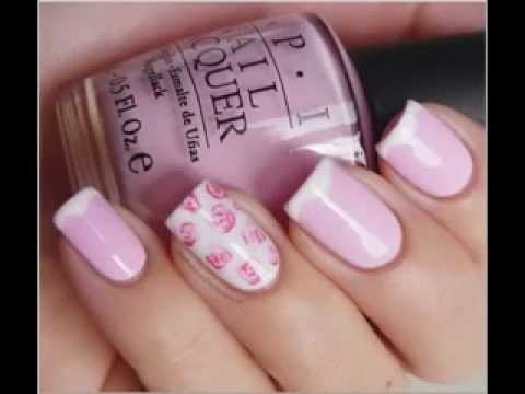 uñas decoradas rosas