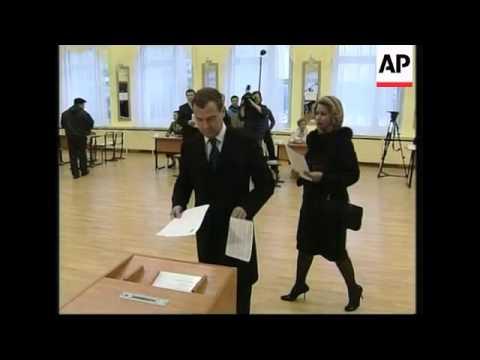 Medvedev voting in