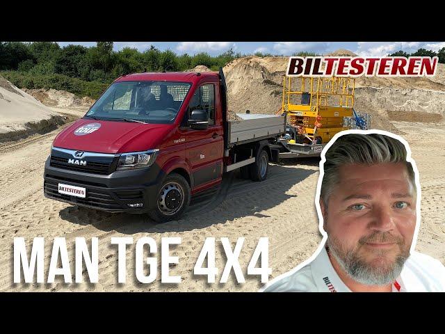 MAN TGE 4x4 i grusgraven med +6 tons! (test)
