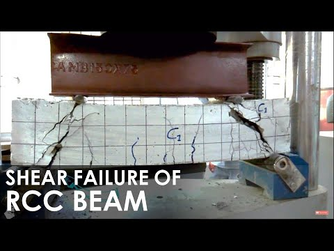 Shear Failure of Reinforced Concrete Beam I Shear Strength I Concrete Laboratory Testing