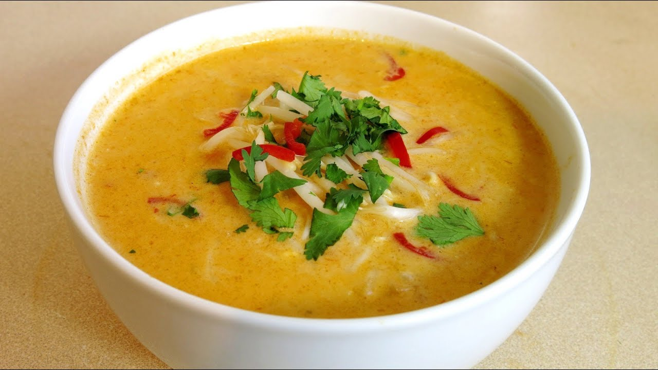 CHICKEN LAKSA SOUP RECIPE - YouTube
