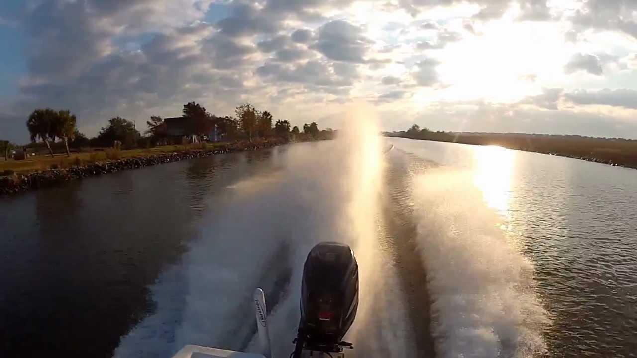 suzuki df 225 v6 outboard take off - 58 mph - youtube