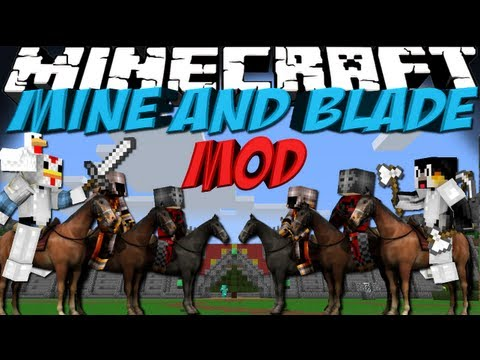 Total War Mod: Minecraft Mine and Blade Commander Mod Showcase!