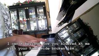 Lady Gaga - Speechless Karaoke Piano Acoustic Instrumental w/ lyrics no melody