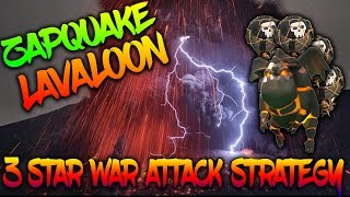 TH9 ZAPQUAKE LAVALOON | 3 STAR WAR ATTACK STRATEGY | 15 WAR ATTACK REPLAYS | Clash of Clans