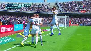 Gol de C. Gonzalez | Pumas UNAM 1 - 0 América | LIGA Bancomer MX - Clausura 2019 - Jornada 7 |