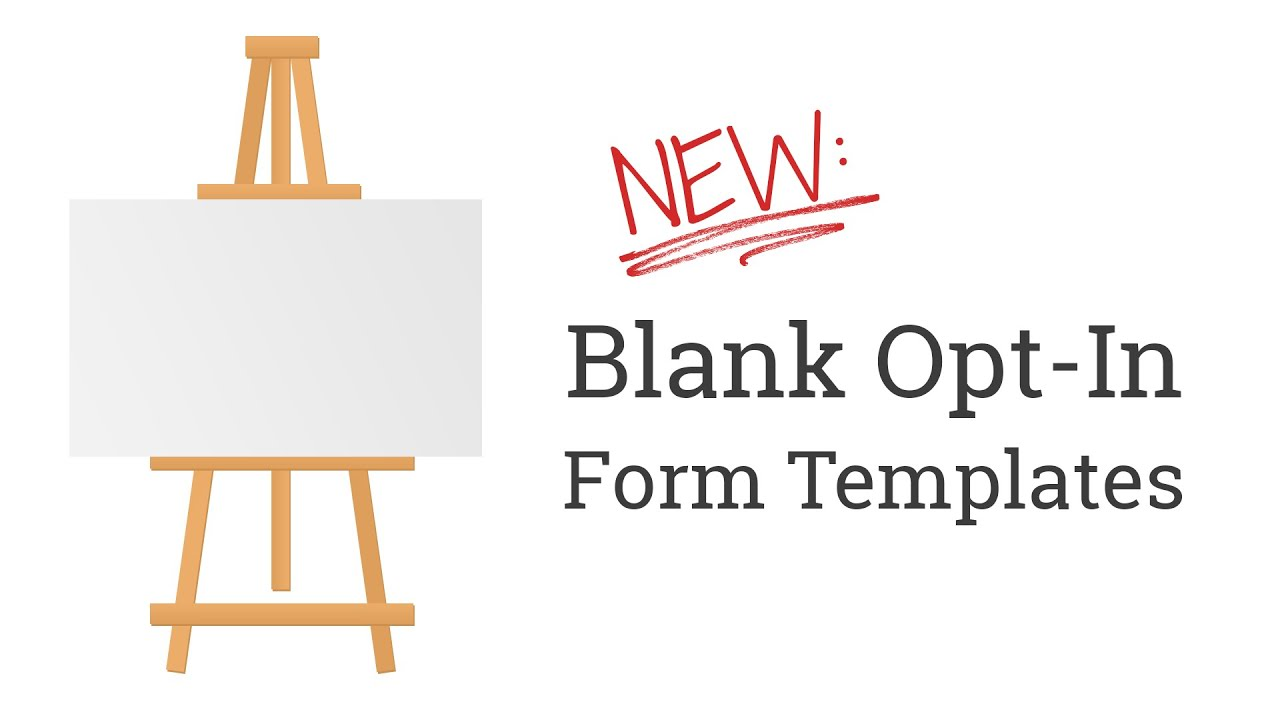 New blank opt in form templates in thrive leads for for Free opt in form templates