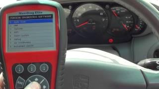 Resetting Porsche Airbags Warning Dash Light Autel MD802