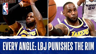 Every Angle: LeBron Punishes The Rim
