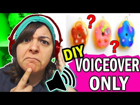 I TRIED FOLLOWING ONLY the VOICEOVER of Creative Rachy's DIY Polymer Clay Donuts Tutorial