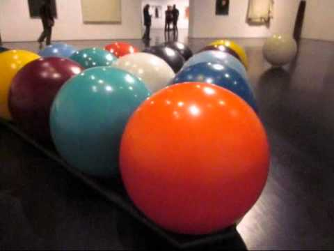 Claes Oldenburg's Giant Soft Ketchup Bottle and Giant Pool Balls