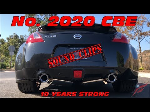 """Fast Intentions Nissan 370Z TDX CBE Stainless Steel Mufflers / 18"""" Resonators- Sound Clips"""