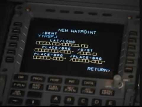 INSERT ETOPS ON AIRBUS A330-200 MCDU