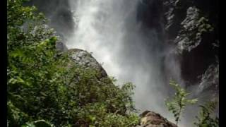 Wind gusts inside waterfall, Ellenborough Falls, Australia