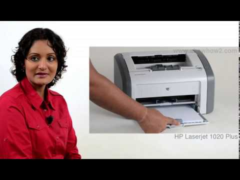 HP LaserJet 1020 Plus - How To Clean The Interior Of The Printer
