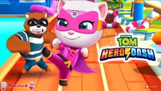 Talking Tom Hero Dash 😆 FALLS AND FAILS FUNNY COMPILATION #4 😆
