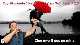 CELE MAI ASCULTATE 10 MANELE LIVE FLORIN SALAM VOL.1, MIX 2013, ZOOM STUDIO
