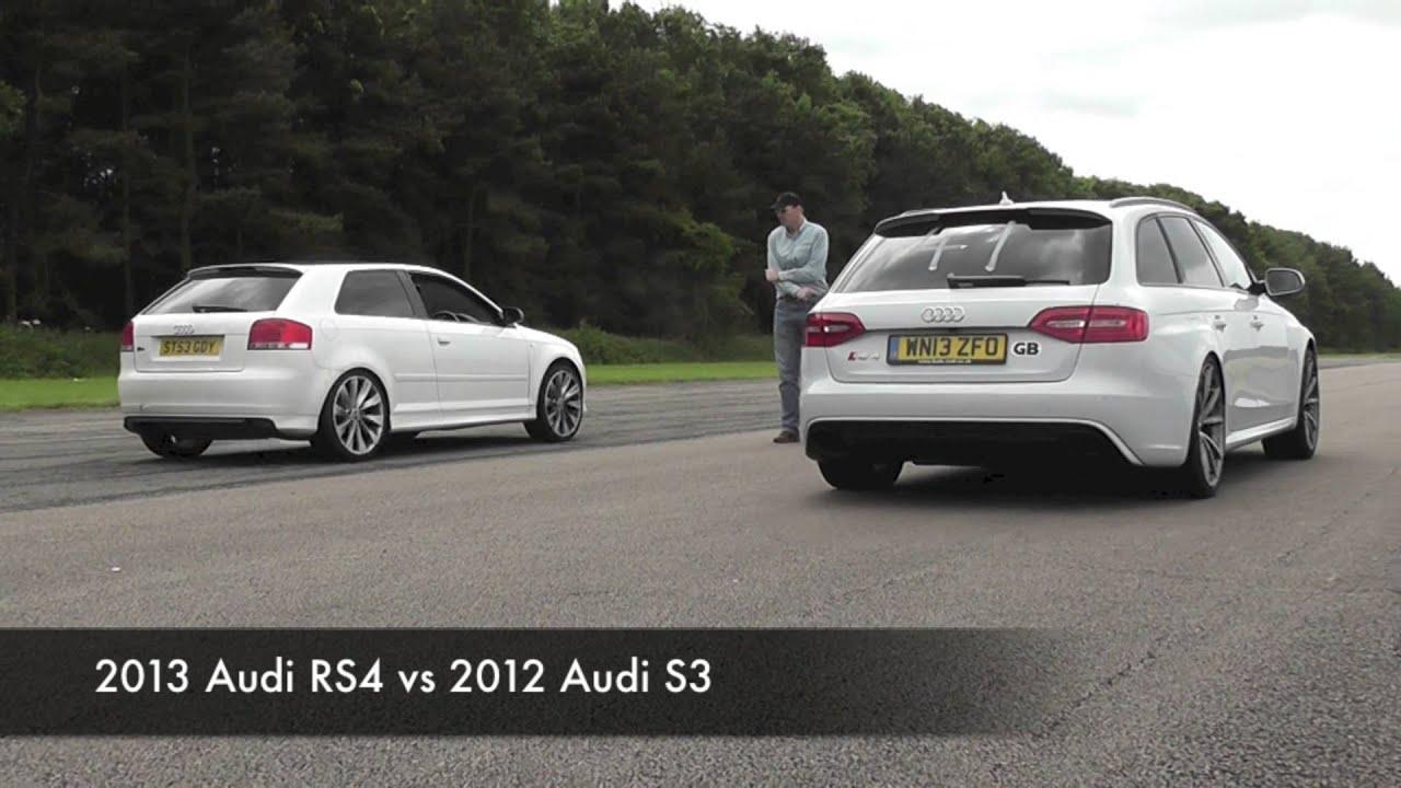 2013 Audi RS4 vs 2012 Audi A3 SLine TDI  YouTube