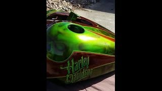 CUSTOM KANDY HARLEY DAVIDSON PAINTED WITH ALLKANDY by JOE URDAK