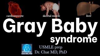 Gray Baby Syndrome/ Pathophysiology 【USMLE, biochemistry】