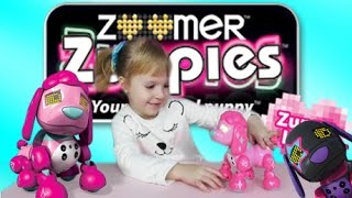 😜ЗУМЕР Zoomer Zuppies Glam интерактивная собака робот на русском. BABY KATE CHANNEL