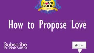 Best way to propose love   Love Guru Tamil