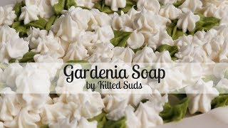 Gardenia Soap | Cold Process Soap by Kilted Suds | Piped Soap