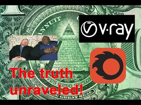 The truth about V-Ray and Corona merge rendering secrets Illuminati theory!