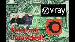 V-Ray and Corona merge - Rendering secrets Illuminati theory!