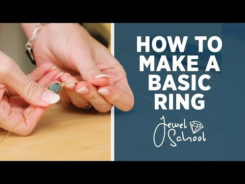 how-to-make-a-basic-ring-|-jewelry-101