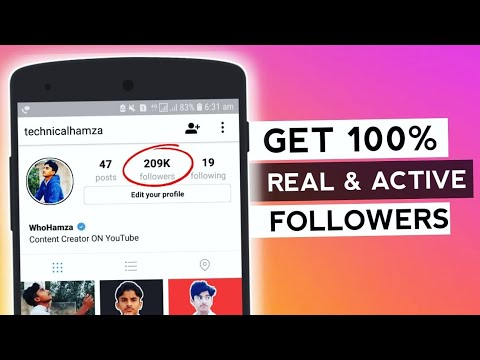How to get active instagram followers 2019